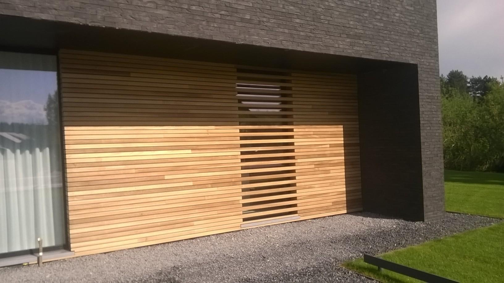 Werk in uitvoering houten gevelbekleding sd schrijnwerkerij sd schrijnwerkerij - Latwerk houten ...